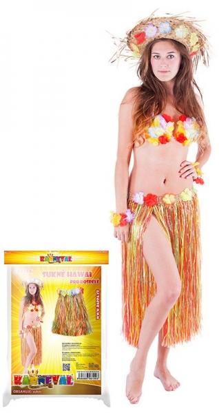 Sukně Hawaii 72 cm dospělá barevná