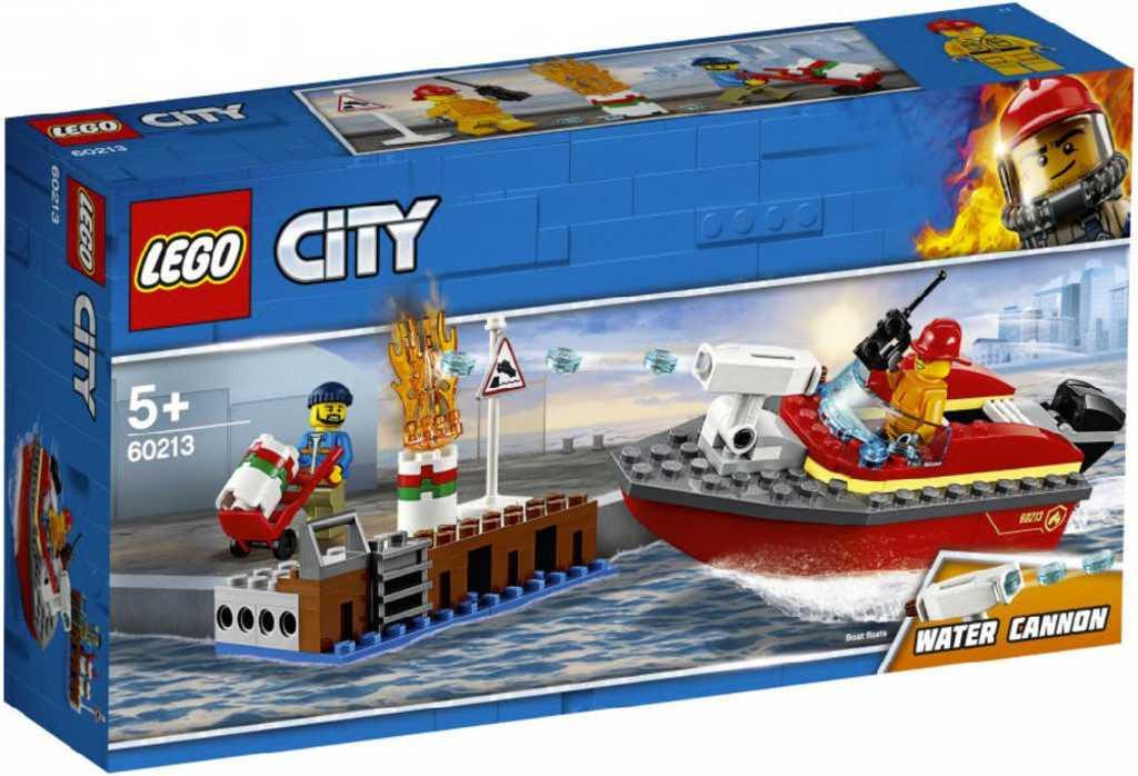 LEGO CITY Požár v přístavu 60213