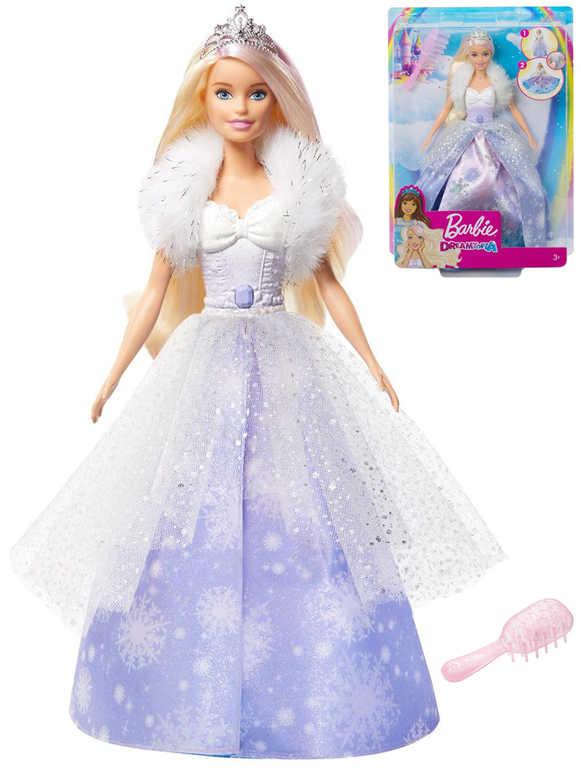 MATTEL BRB Barbie Dreamtopia panenka sněhová princezna s proměnou