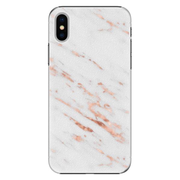 Plastové pouzdro iSaprio - Rose Gold Marble - iPhone X