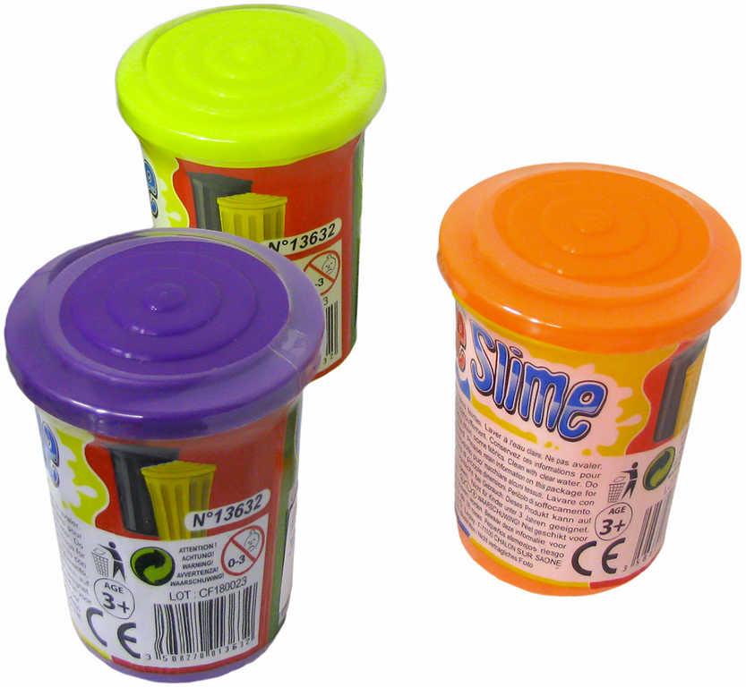 Sliz zábavný 80 g v plastovém kelímku 6 barev