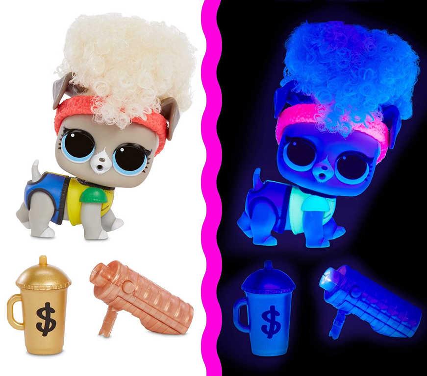 L.O.L. Surprise Light Pets zvířátko neonové 9 překvapení na baterie v kouli Světlo