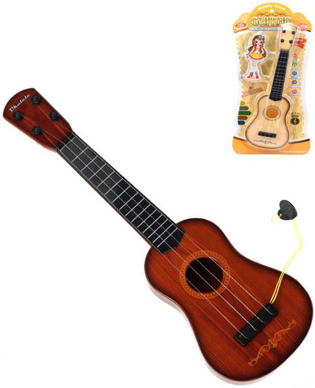 Kytara dětská 40cm s trsátkem 2 barvy plast *HUDEBNÍ NÁSTROJE*