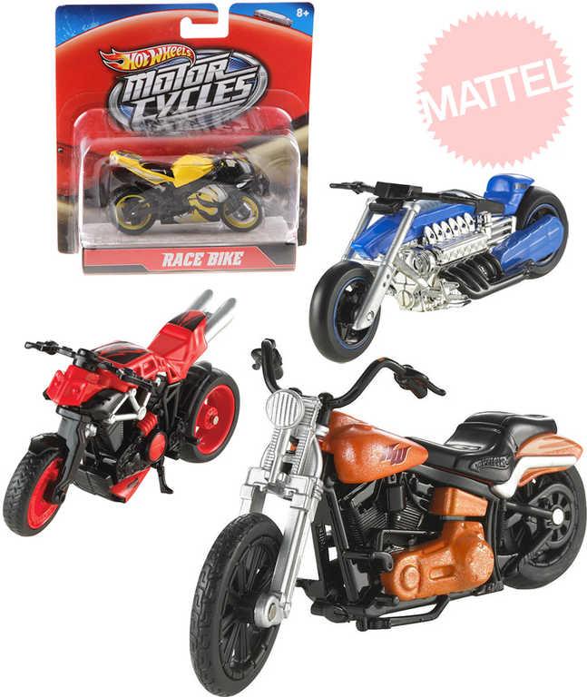 MATTEL HOT WHEELS Motorka závodní silniční - 6 druhů