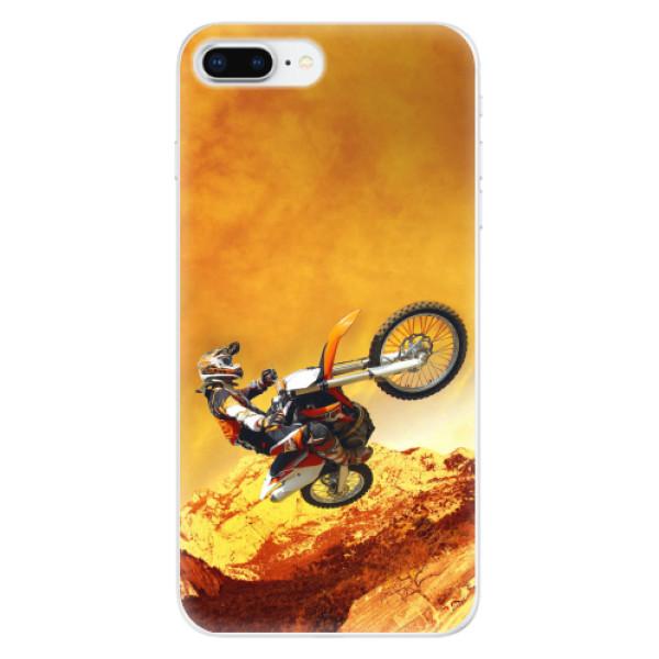 Odolné silikonové pouzdro iSaprio - Motocross - iPhone 8 Plus