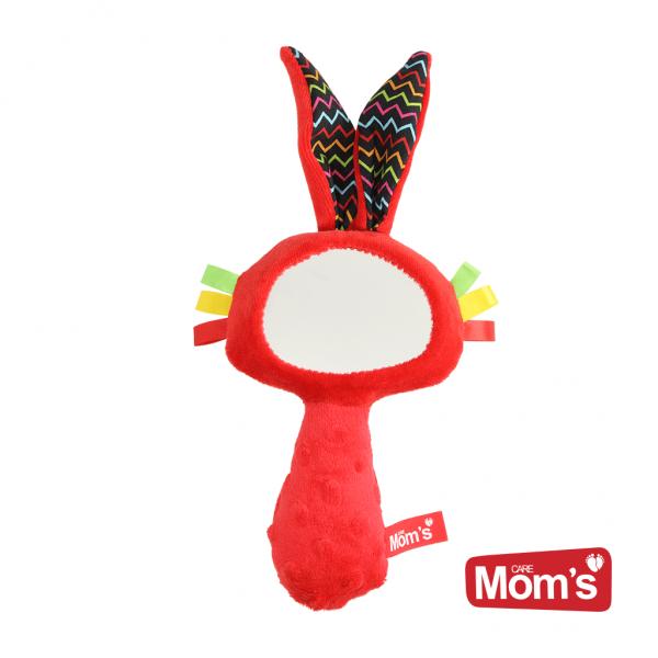 Edukační hračka Zrcátko s pískátkem - červené