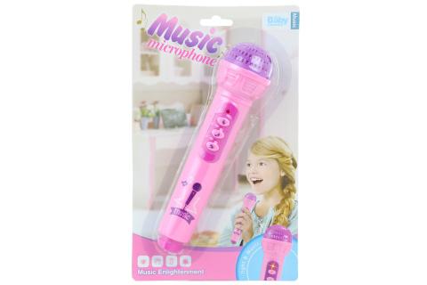 Mikrofon růžový na baterie