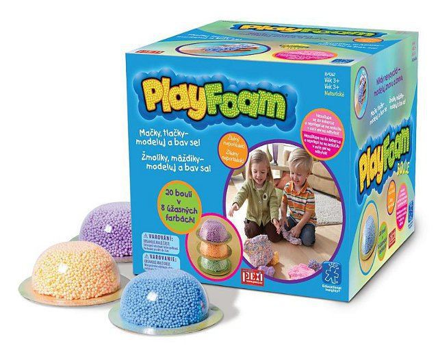 PEXI PlayFoam modelína pěnová boule 1ks dětská modelína 8 barev