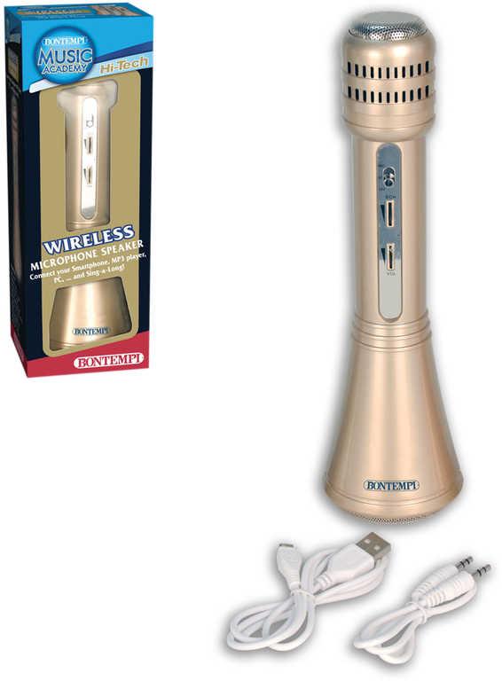 BONTEMPI Mikrofon dětský Hi-Tech bezdrátový MP3 na baterie Mini USB Zvuk