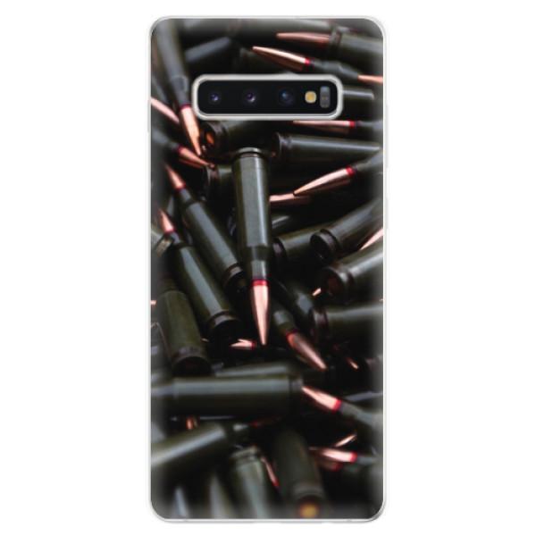 Odolné silikonové pouzdro iSaprio - Black Bullet - Samsung Galaxy S10+
