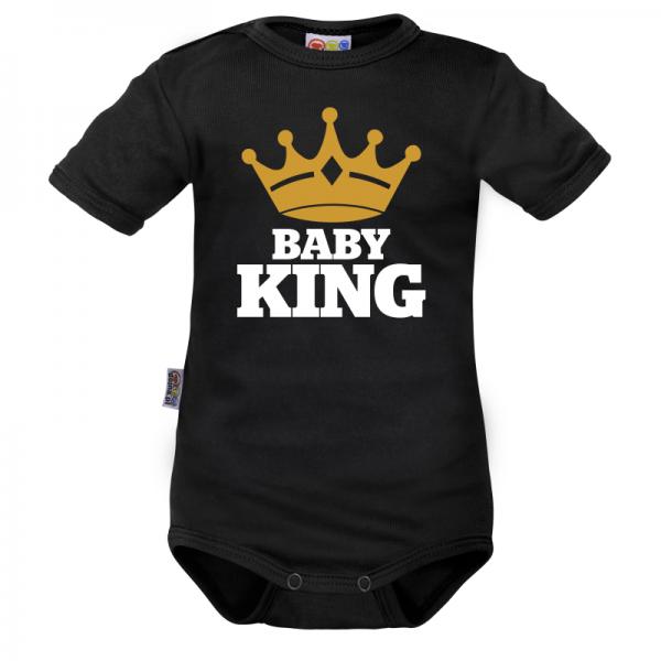 body-kratky-rukav-dejna-baby-king-cerne-vel-68-68-4-6m
