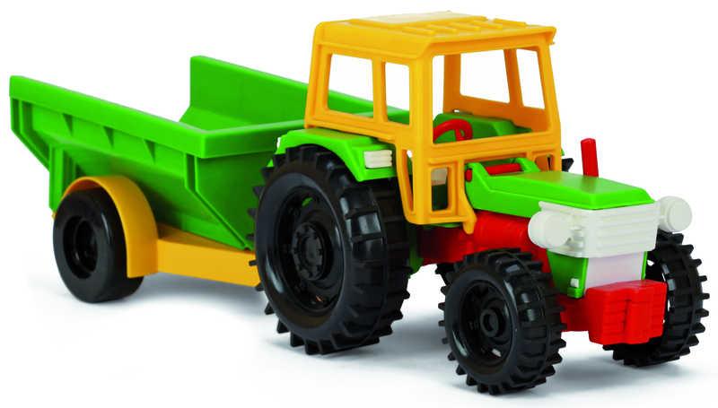 WADER Traktor s vlečkou plastový 2 druhy 35001