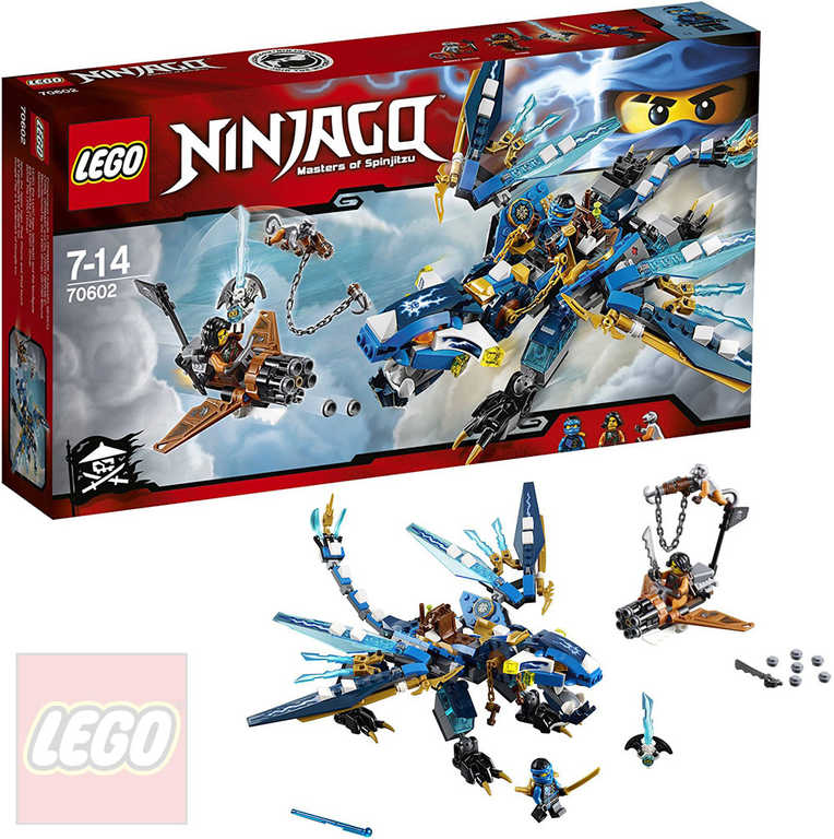 LEGO NINJAGO Jayův drak blesku 70602 STAVEBNICE
