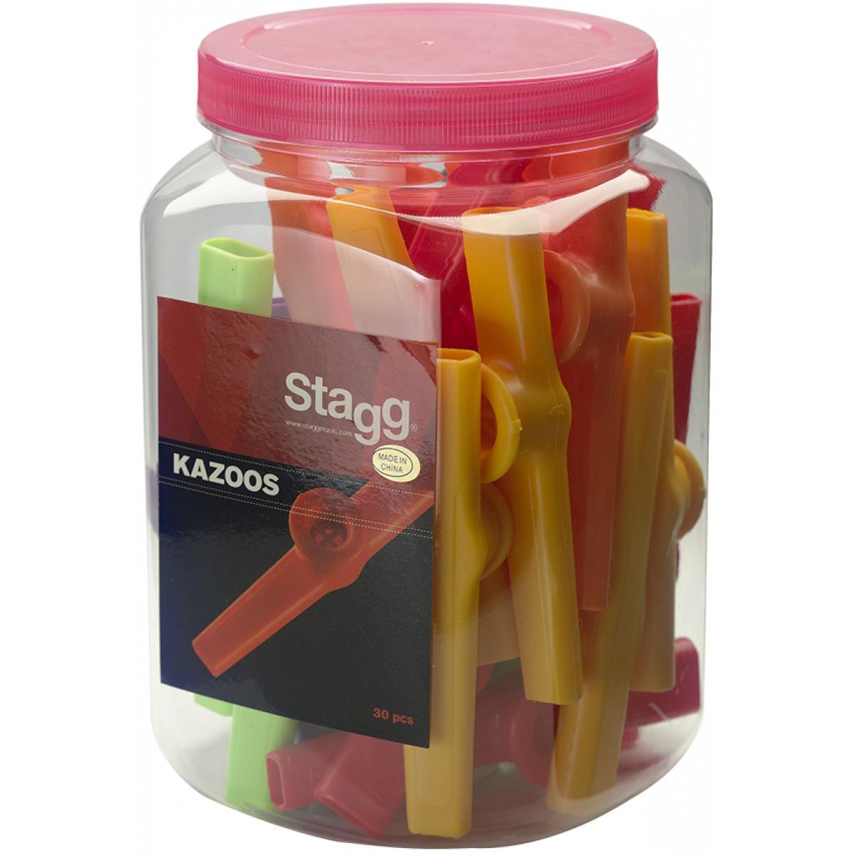 Stagg KAZOO-30, barevné kazoo, 30 ks