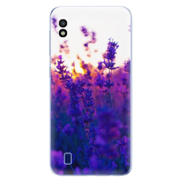 Odolné silikonové pouzdro iSaprio - Lavender Field - Samsung Galaxy A10