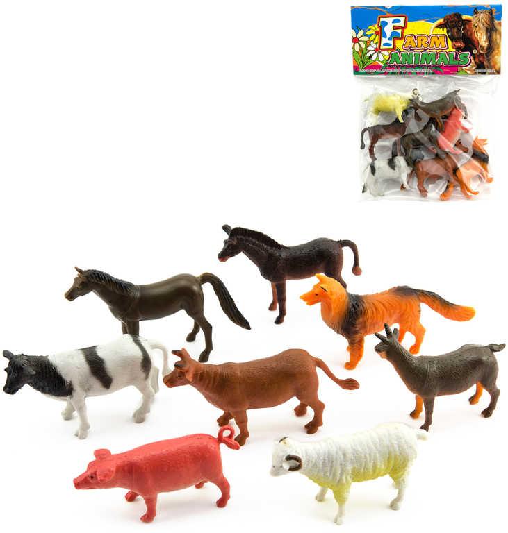 Zvířátka domácí farma plastové figurky set 8ks v sáčku