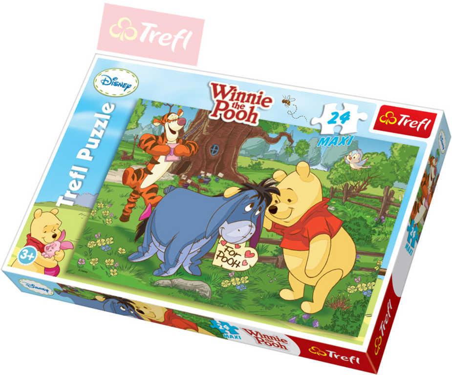 TREFL PUZZLE Disney Medvídek Pú: Přáníčka z lásky 24 dílků Maxi 60x40cm 114137