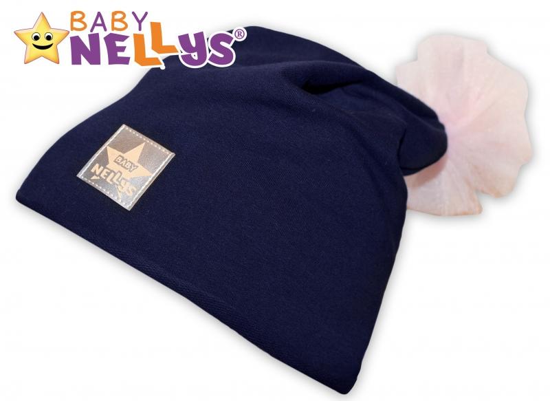 Bavlněná čepička Tutu květinka Baby Nellys ® - granátová, 48-52 - 48/50 čepičky obvod