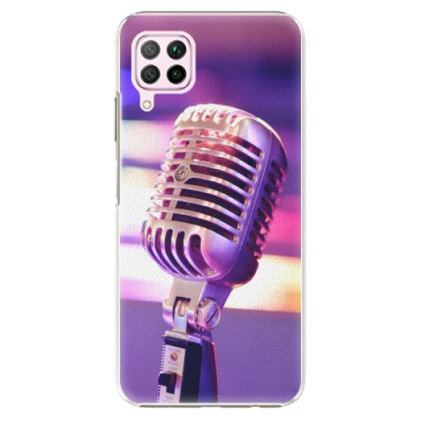 Plastové pouzdro iSaprio - Vintage Microphone - Huawei P40 Lite