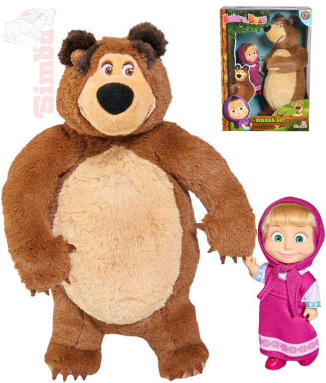 SIMBA PLYŠ Set Máša 12cm a medvěd 25cm