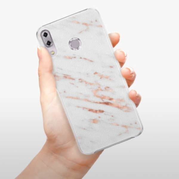 Plastové pouzdro iSaprio - Rose Gold Marble - Asus ZenFone 5Z ZS620KL