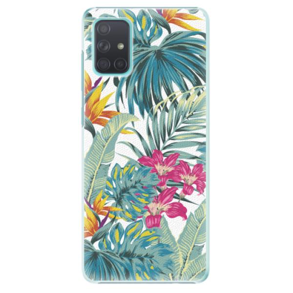 Plastové pouzdro iSaprio - Tropical White 03 - Samsung Galaxy A71