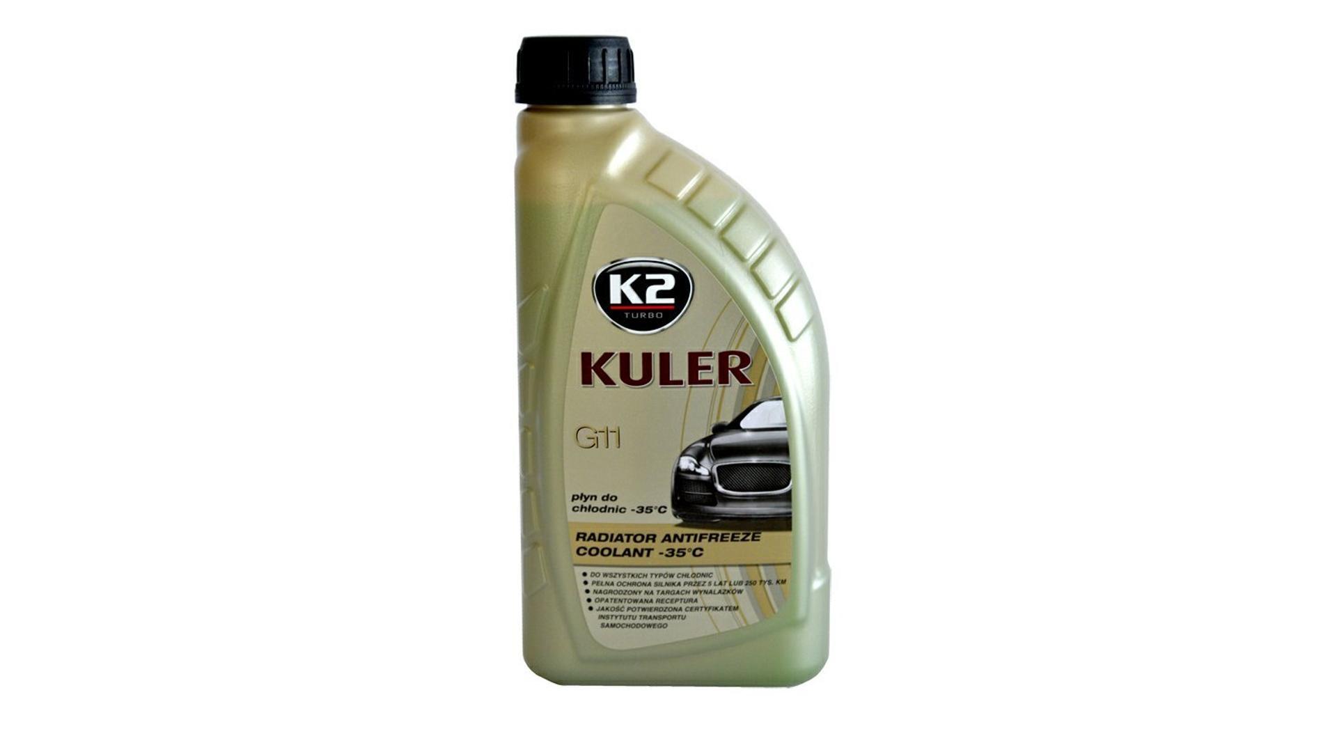 K2 KULER G11 MODRÁ 1l - nemrznoucí kapalina do chladiče do -35 °C