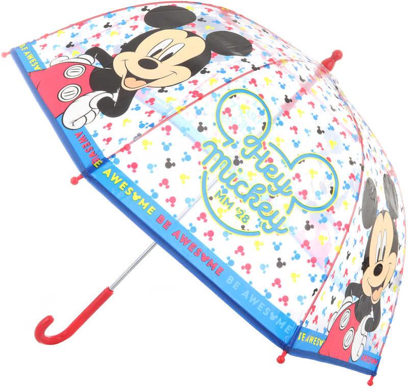 Deštník dětský Disney Mickey Mouse 70x70x64cm průhledný manuální