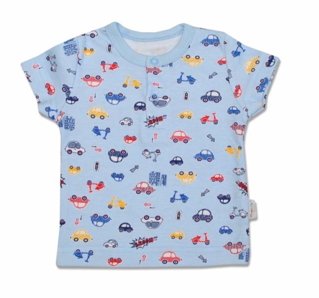 Bavlněné Polo tričko Veselé autíčko - krátký - rukáv, 98 - 98 (24-36m)