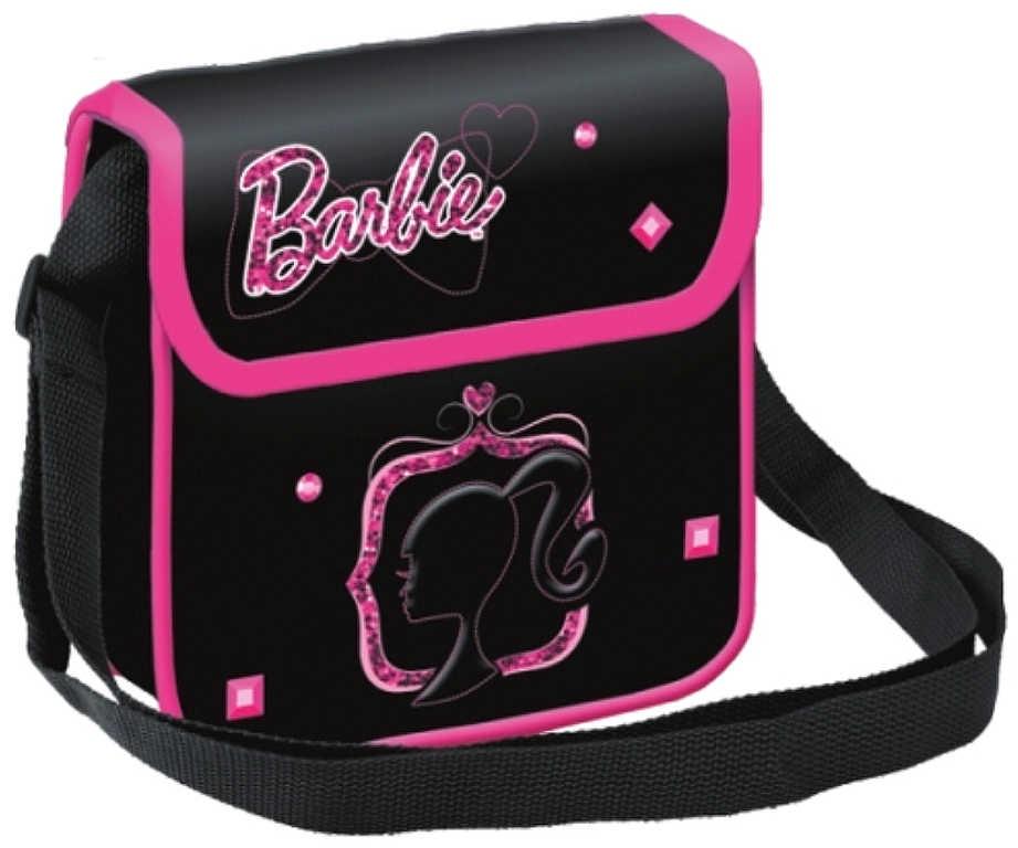 Taška dívčí černá přes rameno Barbie 18x18x6cm