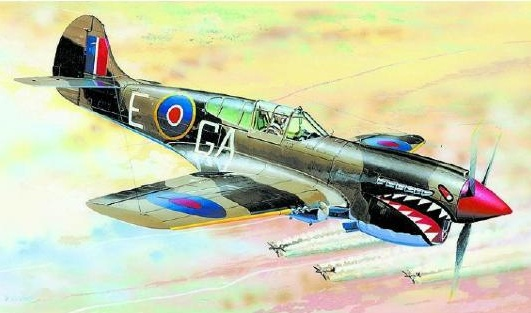 SMĚR Model letadlo Curtiss P 40 K 1:72 (stavebnice letadla)