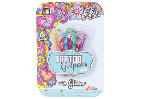 Tetovací pera gelová 4 ks