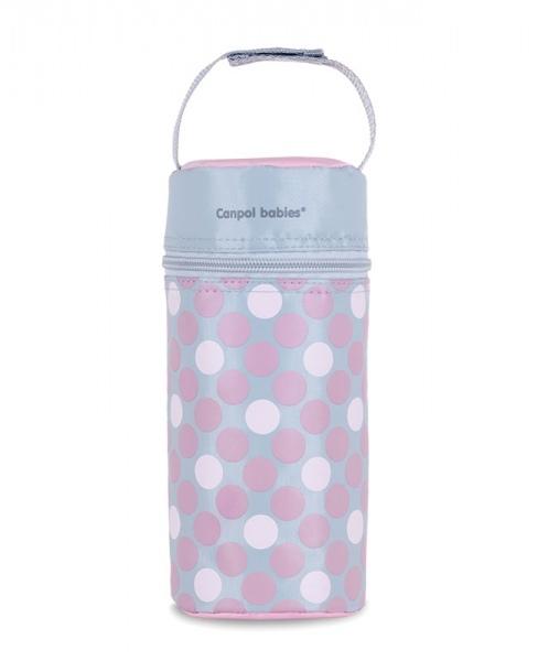Canpol babies Termobox na kojeneckou láhev - puntíky růžové