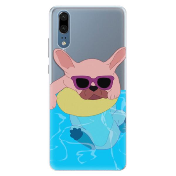 Silikonové pouzdro iSaprio - Swimming Dog - Huawei P20