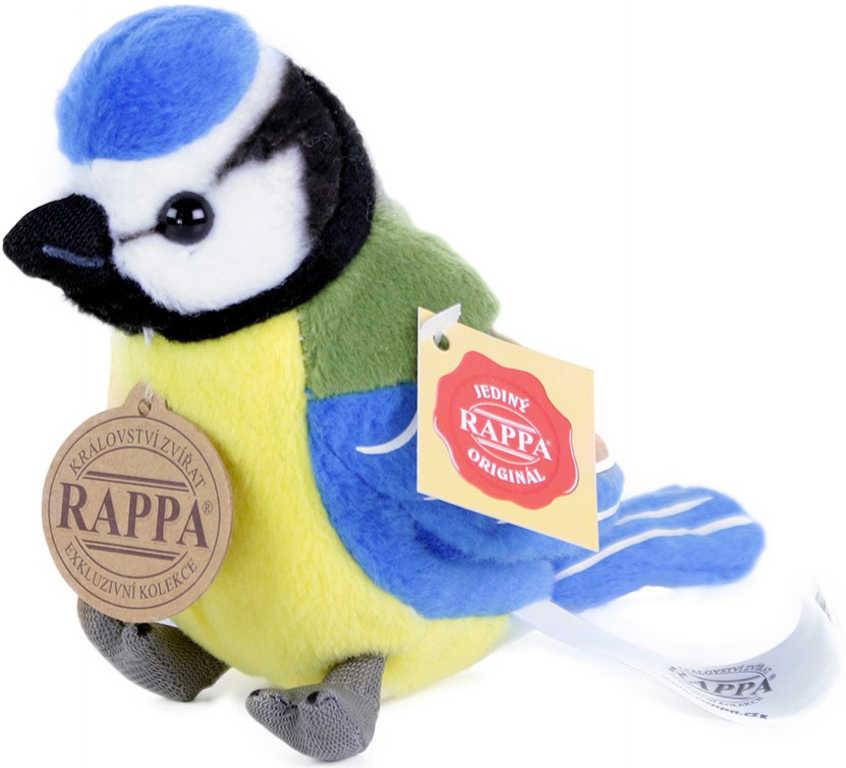 PLYŠ Sýkora modřinka 11 cm ptáček na baterie