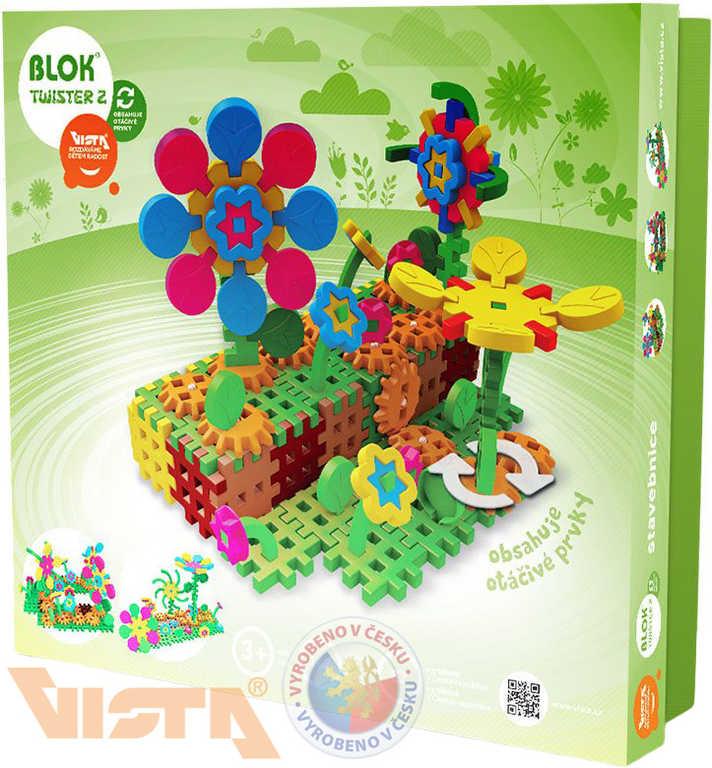 VISTA BLOK Twister 2 plastová STAVEBNICE ozubená kolečka 148 dílků