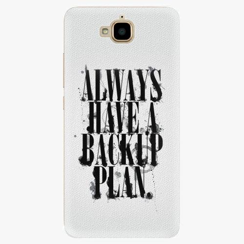 Plastový kryt iSaprio - Backup Plan - Huawei Y6 Pro