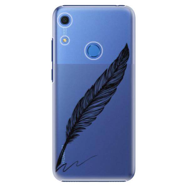Plastové pouzdro iSaprio - Writing By Feather - black - Huawei Y6s