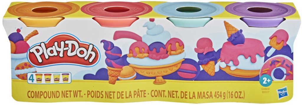 HASBRO PLAY-DOH Kreativní set modelína 4 kelímky dobroty mix barev