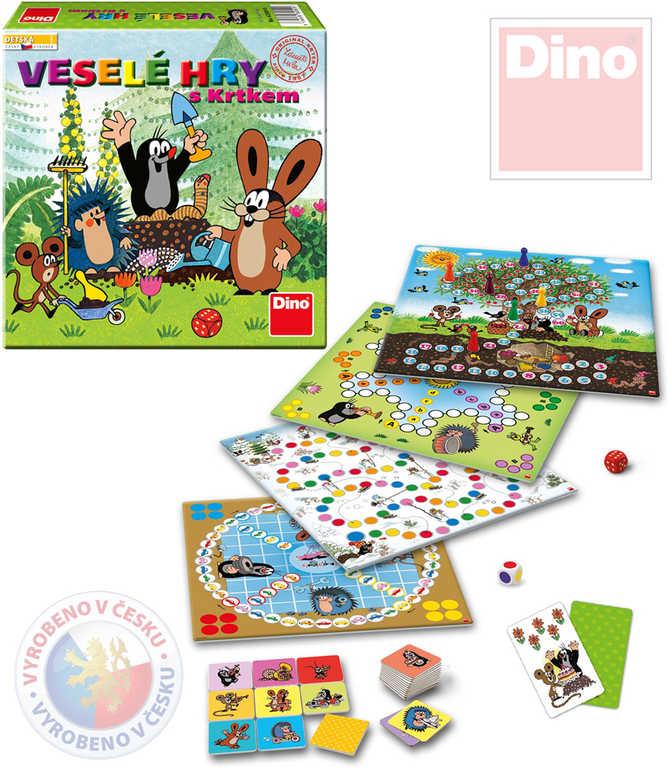 DINO Hra Veselé hry s Krtkem (Krteček) set 5 her 5v1