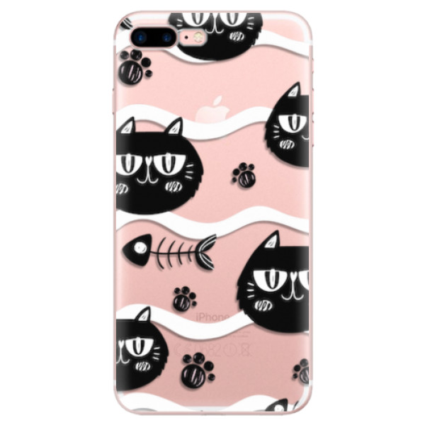 Odolné silikonové pouzdro iSaprio - Cat pattern 04 - iPhone 7 Plus