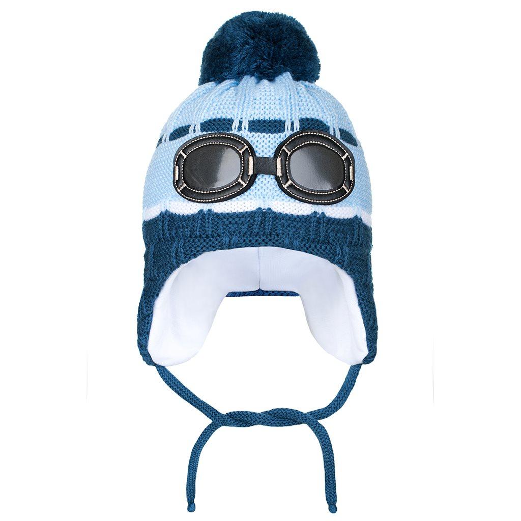 Zimní dětská čepička New Baby brýle