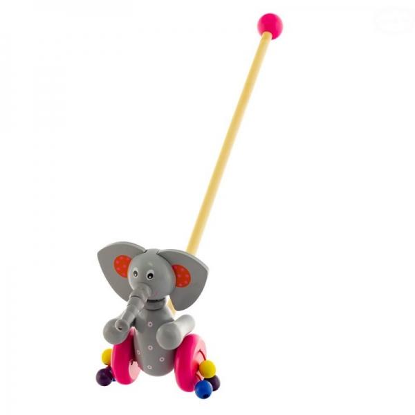 Dřevěná jezdící hračka Euro Baby - sloník
