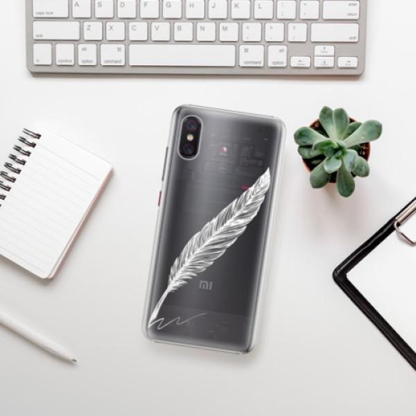 Plastové pouzdro iSaprio - Writing By Feather - white - Xiaomi Mi 8 Pro