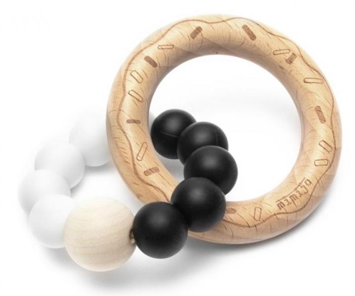 mimijo-silikonove-kousatko-donut-bilo-cerny