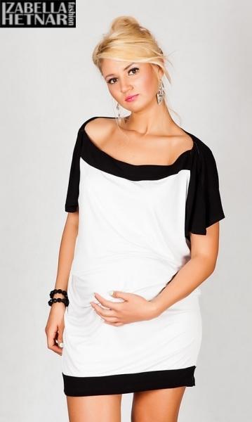 Těhotenské šaty/tunika STELLA - bílé