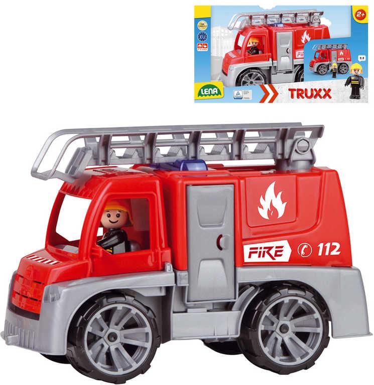 LENA Truxx Baby auto funkční hasiči 29cm set s figurkou plast v krabici