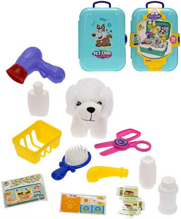 Obchod zvířecí v kufříku 2v1 herní set batoh s pejskem 11cm a doplňky