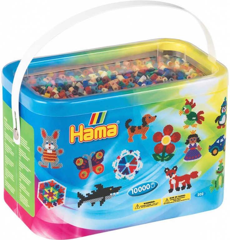 HAMA Korálky barevné zažehlovací Midi 10.000ks 22 barev v boxu