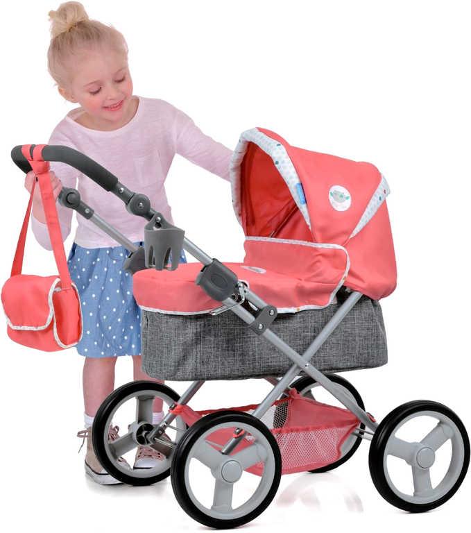 HAUCK Kočárek Angie hluboký set s košíkem a taškou pro panenku miminko